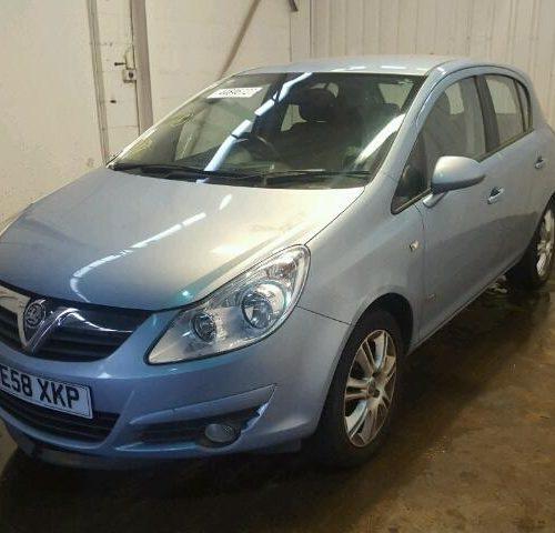 Vauxhall Corsa D 5 Door – Passengers Front Door – Air Blue Z21C