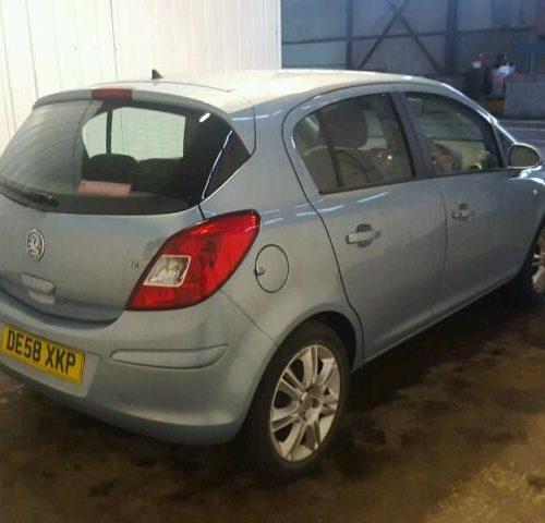 Vauxhall Corsa D 3 Door - Drivers Rear Door - Air Blue Z21C